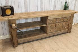 Reclaimed Sideboard Large Rustic Sideboard With Vice