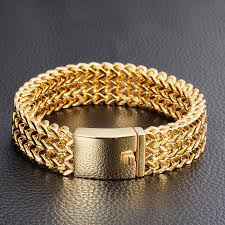 bracelet gold mens images Trustylan 2017 new brand gold bracelet men jewelry jewellery gift jpg