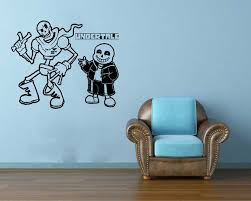 sans and papyrus skeleton brother undertale wall vinyl sticker sans and papyrus skeleton brother undertale wall vinyl sticker mural art decal