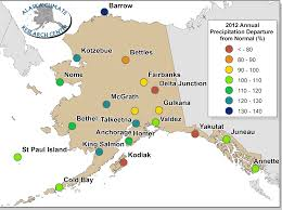 Kodiak Alaska Map by Annual Statewide Summary 2012 Alaska Climate Research Center