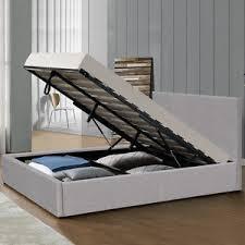 Single Ottoman Bed Modern Grey Fabric Storage Ottoman Bed Frame Single