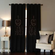 burgundy chandelier punch out blackout curtains pair
