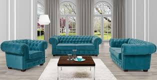 Chesterfield Sofa Set Chesterfield Sofas Set 3 2 1 Turquoise Aberdeen Furniture