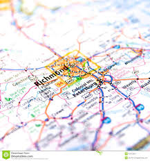 Map Of Richmond Virginia by Richmond Virginia Road Map Stock Photo Image 42373912