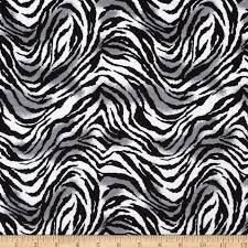 tiger print flannel black white gray discount designer fabric