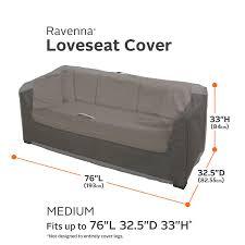 Loveseat Slipcover Amazon Com Classic Accessories Ravenna Patio Loveseat Cover
