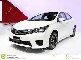 international toyota toyota all new corolla altis esport car on display editorial photo
