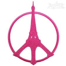 eiffel tower peace sign embroidery designs
