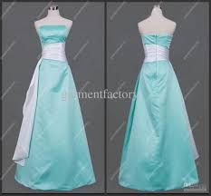 cheapest strapless satin mint green evening dinner gowns with