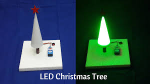 led christmas tree how to make a simple led christmas tree at home diy