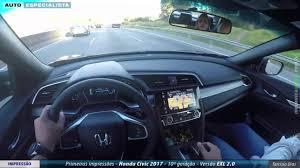 honda civic exl honda civic exl 2017 primeiras impressões apenas carros