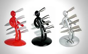 cool knife block voodoo man knife block awesome kitchen gadgets