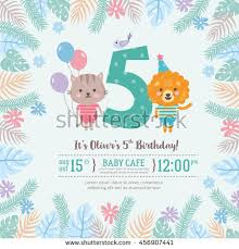 greeting card design cute lion cat stock vector 456907441