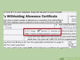W 4 Withholding Table How To Fill Out A W U20104 With Pictures Wikihow