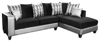 Furniture Sectional Sofas Flash Furniture Velvet Right Facing Sectional Red And White