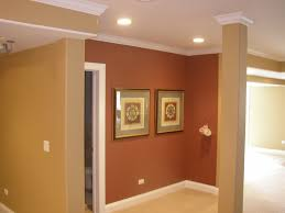 elegant wall decoration with best interior paint in brown also