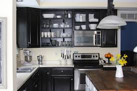 Images Of Kitchens With Black Cabinets Remodelaholic Black Kitchen Cabinets Guest Project Feature