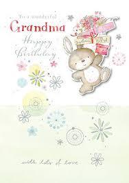 grandma birthday card hand finished bunny design size 6 75 x 4 75