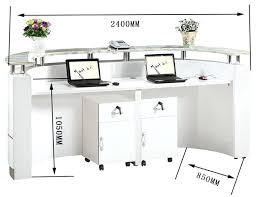 Reception Desk For Salon Cheap Salon Reception Desks High Gloss Nail Salon Half
