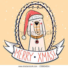 christmas vector set colored tags funny stock vector 345164486