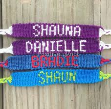 bracelet friendship name images Custom name friendship bracelet etsy jpg