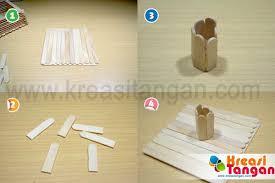 cara membuat kerajinan tangan menggunakan stik es krim kerajinan tangan dari stik es krim diy and crafts pinterest