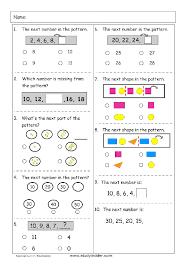 shape pattern year 2 patterns and algebra mathematics skills online interactive