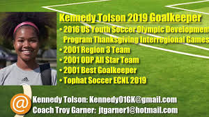 thanksgiving youth games kennedy tolson 2019 goalkeeper odp thanksgiving interregional