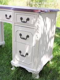 shizzle design antique vanity painted in custom mixed creamy white