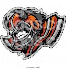 royalty free clip art vector logo of an aggressive buffalo