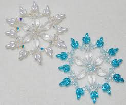 snowflake 7 beaded ornament pattern west jewels
