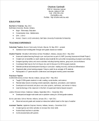 Teacher Resume Examples 2013 by Elementary Teacher Resume Template 7 Free Word Pdf Document
