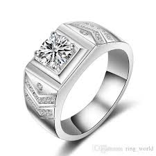 diamond ring for men design 2018 new design jewelry men ring aaaaa zircon simulated diamond