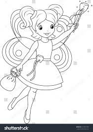 tooth fairy coloring stock vector 191841500 shutterstock