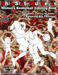 ohio state buckeye u0027s women u0027s basketball coloring book silhouette