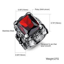 fashion gem rings images Cool stainless steel index finger rings for men fashion buycoolprice jpg