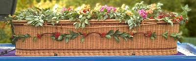 wicker casket willow wicker coffins crane funerals