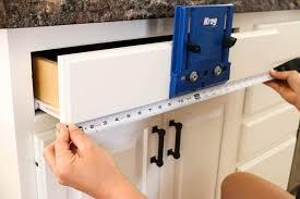 kreg cabinet hardware jig modern farmhouse kitchen makeover hardware installation and reveal