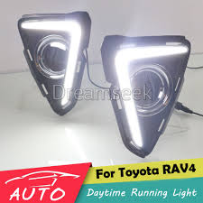 drl for toyota rav4 rav 4 2016 2017 car led daytime running light