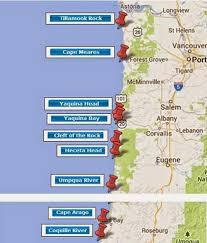 map of oregon lighthouses my travelogue oregon coast lighthouse ride