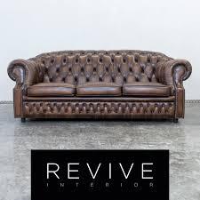 echtleder sofa centurion chesterfield leder sofa dreisitzer vintage retro