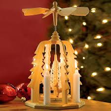 german pyramid wooden candle powered carousel the german