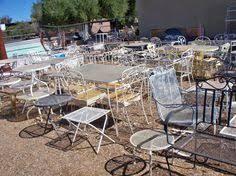 Wrought Iron Patio Furniture by 1940s Vintage Hammacher Schlemmer Wrought Iron Patio Furniture