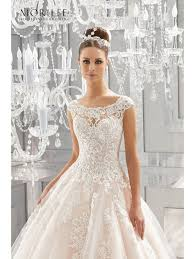 beaded wedding dresses mori 5573 massima beaded lace wedding dress ivory