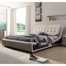 Black Leather Platform Bed Brown Contemporary Brown Black Faux Leather Platform Bed
