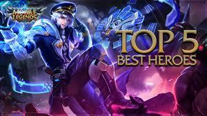 Mobile Legends Mobile Legends Top 5 Best Heroes