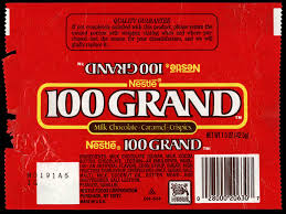 where can i buy 100 grand candy bars cc nestle 100 grand chocolate candy bar wrapper late 1980 s