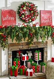 Bright Christmas Decorations I Just Love All The Decorations In This Picture Love The Colors