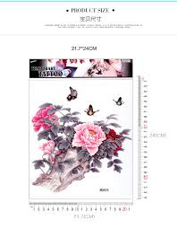 3 pcs lot large peony flower butterfly designs temporary