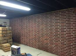 painted brick form poured concrete basement walls with ceiling